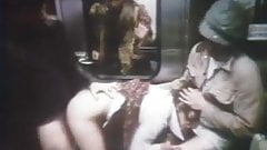Strangers have fun with two gorgeous women in the train