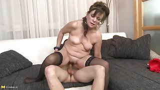 Real mature mothers used and fucked by stepsons