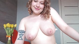 Russian girl shows her naked body and her lingerie