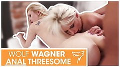 Hot anal threesome fuck with 2 blonde chicks! wolfwagner.com