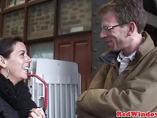Amsterdam blowjob video - Amsterdam ebony hooker pov fucked and spunked