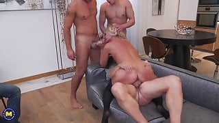 Busty mature mothers bang stepsons