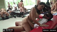 Huge Assfucking Orgy with Hot Euro Babes