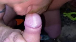 Ginger guy getting a facial