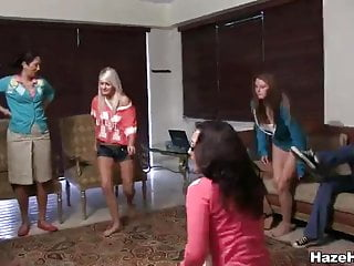 Sorority slut gets jumped - Naked sorority girls get treated like dogs
