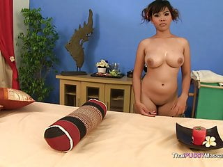 Naked thai massage Thai massage big natural boobs bareback creampie