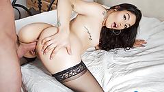 CEO Promotion Celebration Sex with Brunette Latina Vanessa