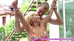 Lovely granny banged doggystyle