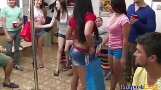 Sorority teens fucking coeds after partying