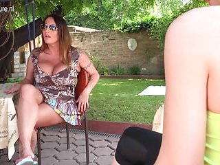 Huge breasted women ballbusting Huge breasted mom fooling around with lesbian daughter