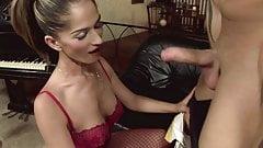Hot Brunette tight asshole makes him cum like a fountain