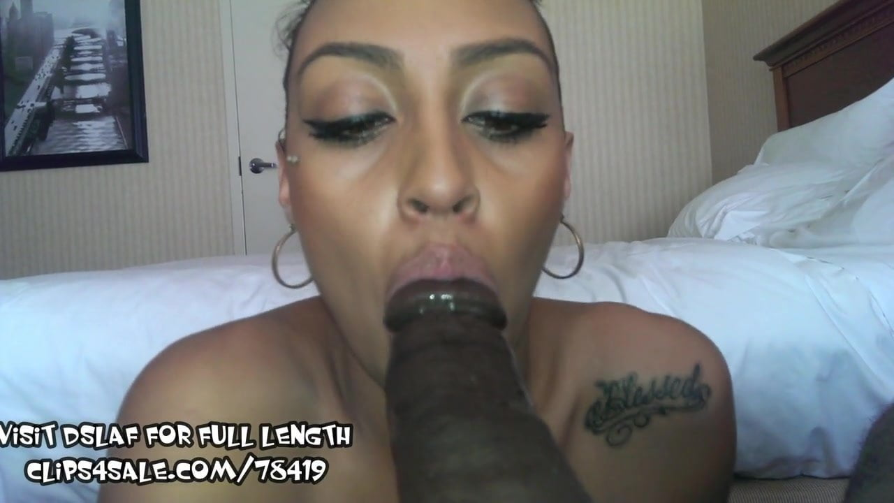 Hot Latina Sloppy Blowjob