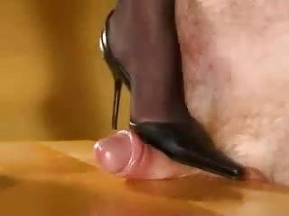 Sock cock trample - Cock trampling in high heels