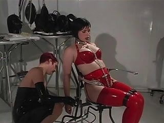 Black leather fetish tgp Hot lesbians in red and black leather