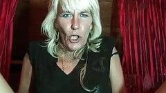 Very hairy German blonde mature granny