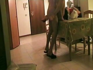 Live spanish sex Fuck in the living room on the table pt3