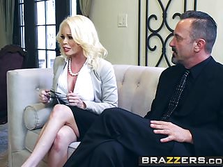 Cum into my shoe - Brazzers - big tits at work - cum into my business deal scen