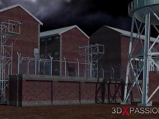 Prison sex females - Harley quinn fucks hard a female prison warden with strapon