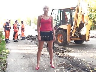 Girl putting food in ass Naughty in public blonde girl putting a show for the guys