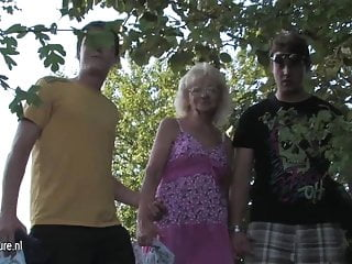 Old women fucking young guys videos - Naughty old cunt fucks two young guys at once
