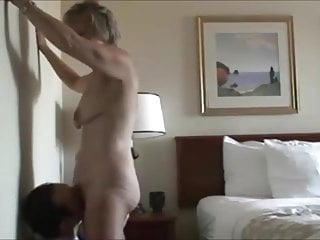 Grandma wants grandson for sex - Grandson eating grandma pussy hard