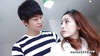 Horny Korean cougar gets her wet pussy satisfied