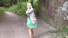 Super Hot Blonde Pissing While On Phone