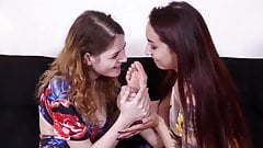 Lesbian Feet Worship in Sandals & Barefoot