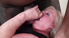 English GILF squirts on huge black American cock