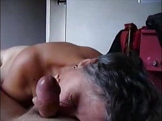Gray haired mature picture - Gray hair granny give handjob and get cum