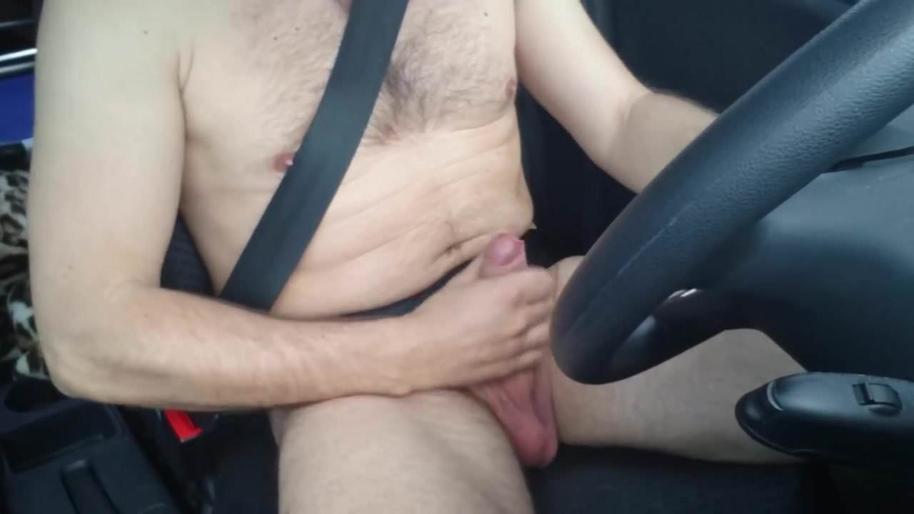 Jacking off in a car