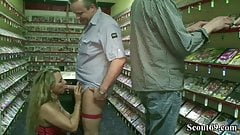 GERMAN BIG TITS MILF FUCK WITH TWO STRANGER IN VIDEO LIBRARY