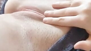 Chuca Blonde Showing Hot Pussy Scooping Up in Bed