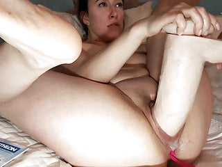 Adulthood assault effects sexual Monster dildo pussy assault on big tits squirting honey