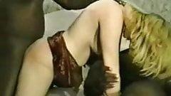 hot blonde Monet interracial