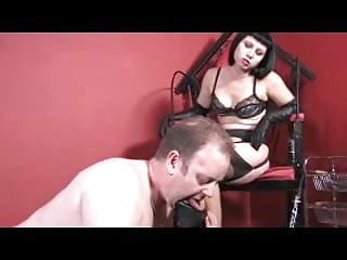 Penis trampling - Femdom stockings worship and trample