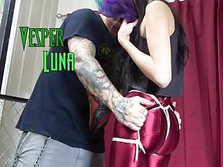 Goth bondage fuck Goth girl hogtied in spandex