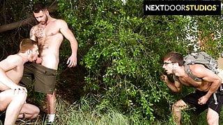 Donte Thick Joins 2 Hunks In Public Park - NextDoorStudios