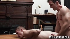Young Mormons having a bareback fuck session with his pastor
