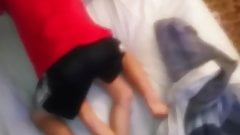 Teen couple is taking their clothes off and having a quicky
