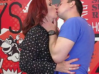 Haze sucks dick - Hot redhead mother sucks dick and gets fucked by not her son