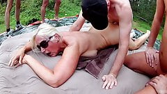 Forest Gangbang with Noire 2018 Pt4