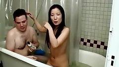 Asian lady bath
