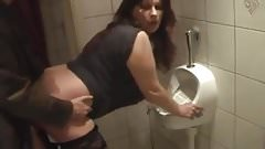 German mature fucked in bathroom