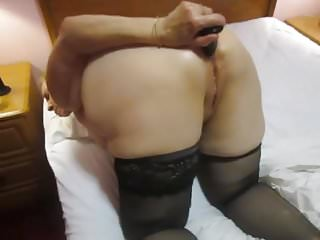 Anal masturbation for me - Grandma anal play just for me