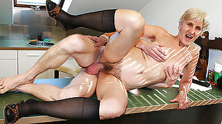 83 years old step mom fucked by stepson