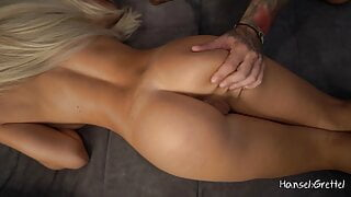 Spanking Ass of Fitness Girl with Big Natural Boobs