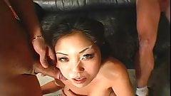 Asian cock hungry chick gangbanged
