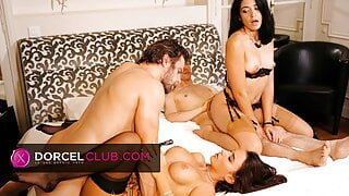Super sexy Foursome with hot babes Avi Love and Lana Roy