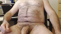 HAIRY THICK DADDY BEAR WITH FAT UNCUT COCK CUMMS
